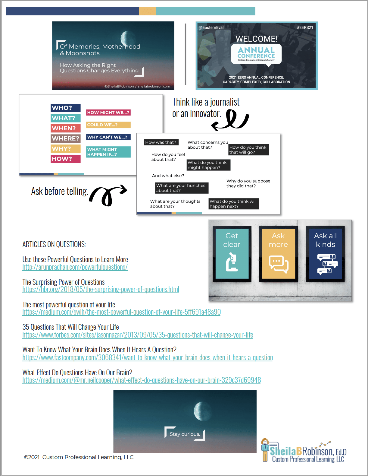 EERS keynote on questions handout image
