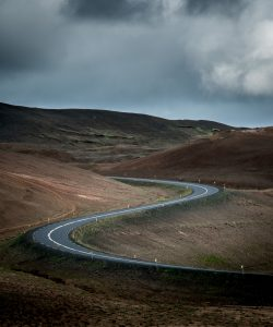 image of a very curvy road